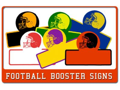 Football Booster Signs