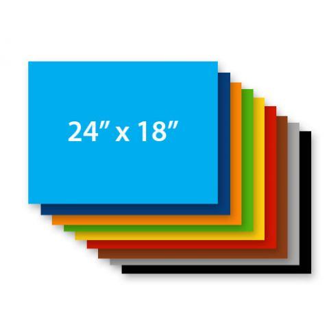 """24"""" x 18"""" 4mm Corrugated Sign Blank COLORS"""