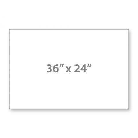 """36"""" x 24"""" 4mm Corrugated Sign Blank White"""
